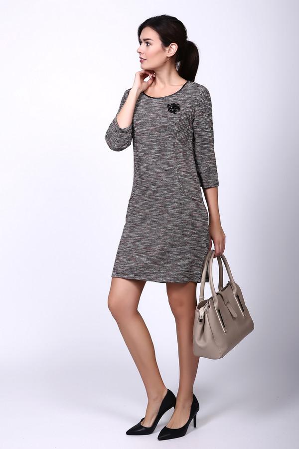 Платье TaifunПлатья<br><br><br>Размер RU: 46<br>Пол: Женский<br>Возраст: Взрослый<br>Материал: полиэстер 35%, хлопок 25%, полиакрил 30%, вискоза 10%<br>Цвет: Серый