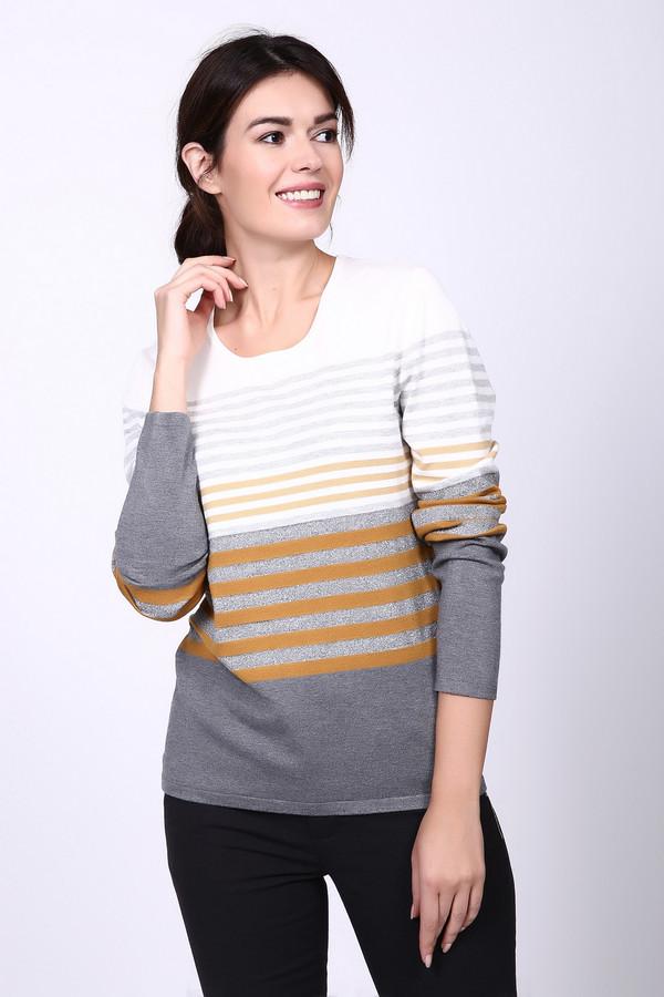 Пуловер Gerry WeberПуловеры<br><br><br>Размер RU: 50<br>Пол: Женский<br>Возраст: Взрослый<br>Материал: вискоза 75%, полиамид 19%, метализ.полиэстер 6%<br>Цвет: Разноцветный