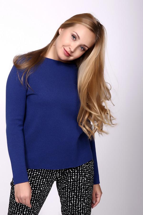 Пуловер Gerry WeberПуловеры<br>Пуловер синего цвета фирмы Gerry Weber. Ткань состоит из 100% хлопка. Модель выполнена прямым покроем. Изделие дополнено овальным воротом, втачным, длинным рукавом. Такая модель будет гармонировать с брюками и юбками.