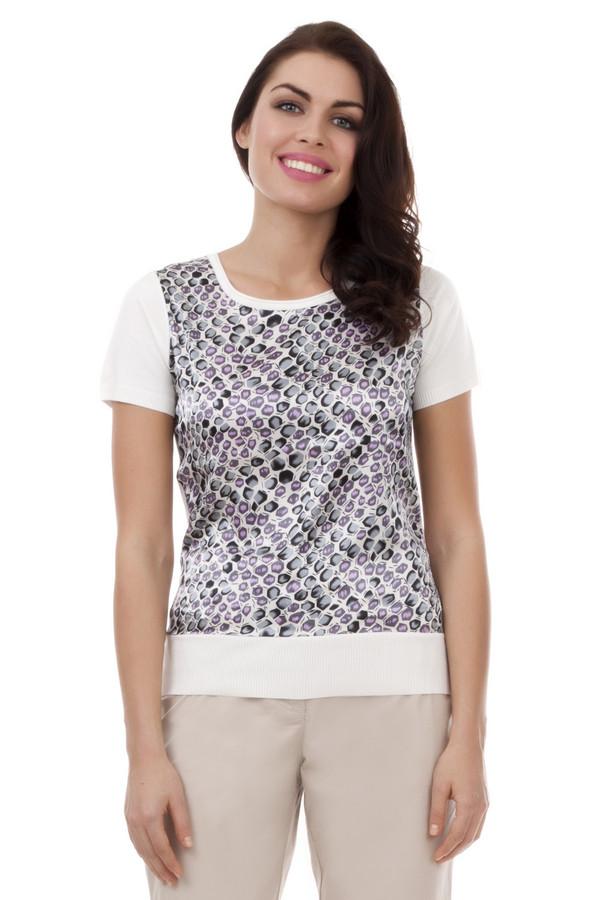 Пуловер PezzoПуловеры<br>Пуловер для женщин от бренда Pezzo. Это пуловер с круглым вырезом и коротким рукавом, выполненный в белом цвете, с оригинальным принтом в серо-сиреневых тонах на фронтальной части. Изделие пошито из материала, который на 80% состоит из вискозы и на 20% из нейлона.<br><br>Размер RU: 48<br>Пол: Женский<br>Возраст: Взрослый<br>Материал: вискоза 80%, нейлон 20%<br>Цвет: Белый