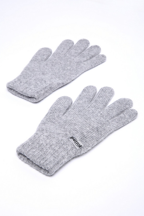 Перчатки PezzoПерчатки<br><br><br>Размер RU: один размер<br>Пол: Женский<br>Возраст: Взрослый<br>Материал: полиамид 50%, ангора 10%, вискоза 40%<br>Цвет: Серый