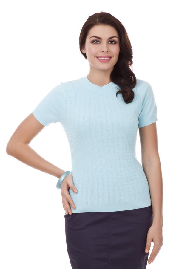 Пуловер PezzoПуловеры<br>Модный женский пуловер фирмы Pezzo. Данная модель представлена в светло-голубом оттенке и сшита из вискозы с добавлением нейлона. Изделие дополнено: рукавом длиной до середины плеча на резинке, а также круглым вырезом на резинке и низом.<br><br>Размер RU: 50<br>Пол: Женский<br>Возраст: Взрослый<br>Материал: вискоза 65%, нейлон 35%<br>Цвет: Голубой