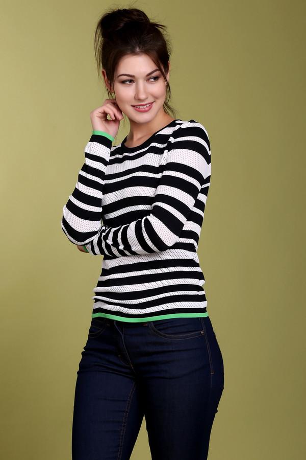 Пуловер PezzoПуловеры<br>Модный пуловер для женщин от бренда Pezzo. Изделие пошито из материала, который включает в себя нейлон и вискозу, благодаря которым мягкий и удобный. У этого пуловера круглый воротник и длинный рукав. Изделие дополнено салатовой полоской внизу изделия и на рукавах.<br><br>Размер RU: 50<br>Пол: Женский<br>Возраст: Взрослый<br>Материал: вискоза 63%, нейлон 37%<br>Цвет: Разноцветный