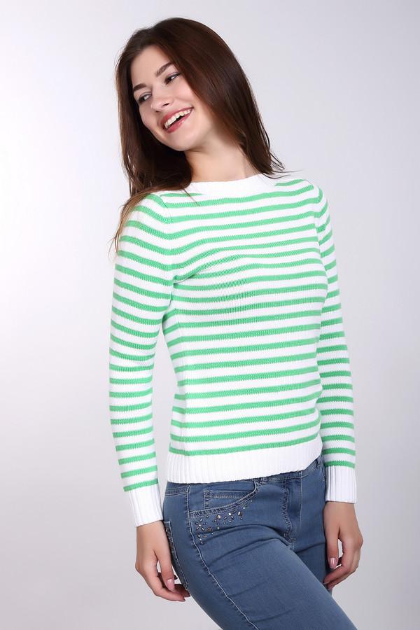 Пуловер PezzoПуловеры<br>Модный женский пуловер от бренда Pezzo. Данный пуловер в зелено-белую полоску, выполнен в технике мелкой вязки из 100% натурального хлопка. Изделие дополнено вырезом лодочкой и длинным рукавом, а также резинками на рукавах и в нижней его части<br><br>Размер RU: 48<br>Пол: Женский<br>Возраст: Взрослый<br>Материал: хлопок 100%<br>Цвет: Разноцветный