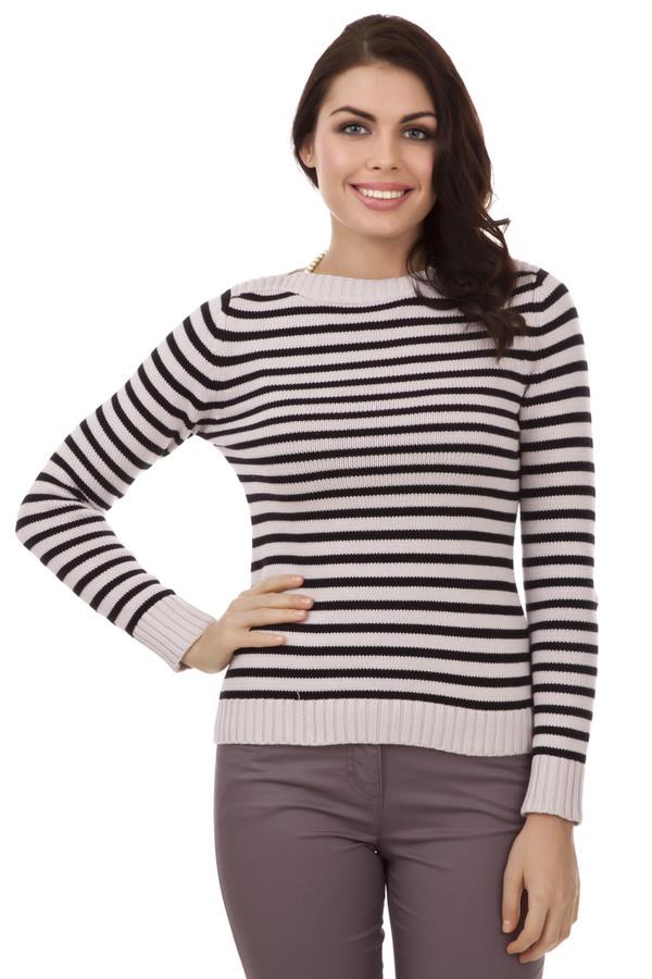 Пуловер PezzoПуловеры<br>Модный женский пуловер от бренда Pezzo. Данный пуловер в черно-розовую полоску, выполнен в технике мелкой вязки из 100% натурального хлопка. Изделие дополнено вырезом-лодочкой и длинным рукавом, а также резинками на рукавах и в нижней его части.<br><br>Размер RU: 52<br>Пол: Женский<br>Возраст: Взрослый<br>Материал: хлопок 100%<br>Цвет: Розовый