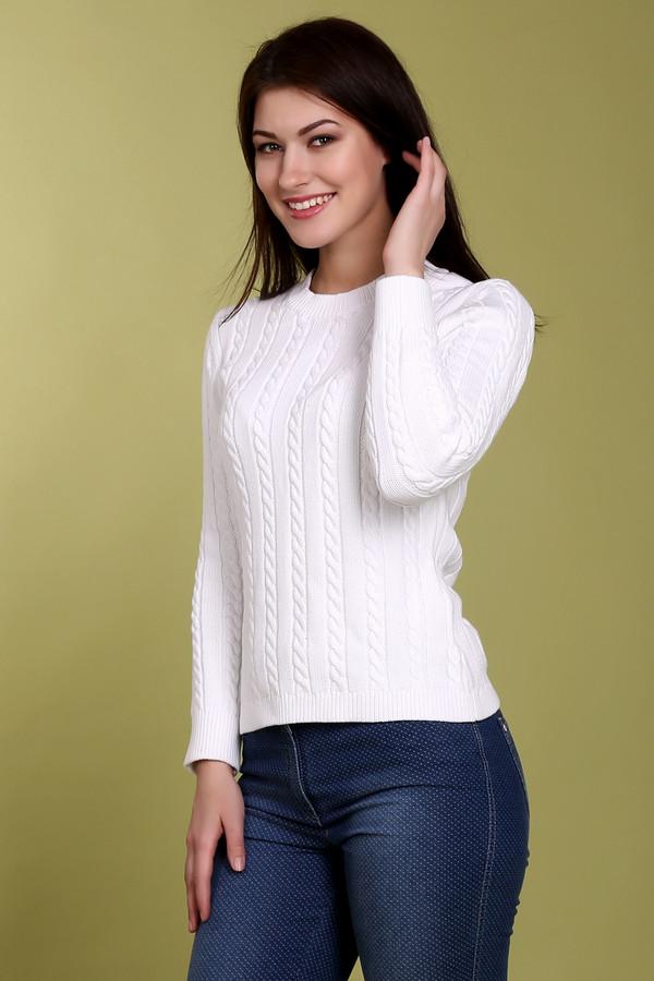 Пуловер PezzoПуловеры<br>Классический женский пуловер от бренда Pezzo. Данный пуловер представлен в белом цвете и выполнен в технике средней вязки с классическим объемным узором коса. Изделие дополнено: круглым вырезом, длинным рукавом и низом на резинке.<br><br>Размер RU: 44<br>Пол: Женский<br>Возраст: Взрослый<br>Материал: хлопок 100%<br>Цвет: Белый