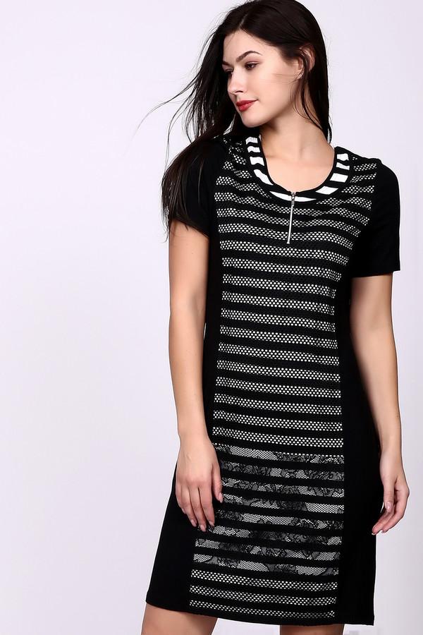 Платье LebekПлатья<br><br><br>Размер RU: 48<br>Пол: Женский<br>Возраст: Взрослый<br>Материал: эластан 4%, вискоза 96%<br>Цвет: Чёрный