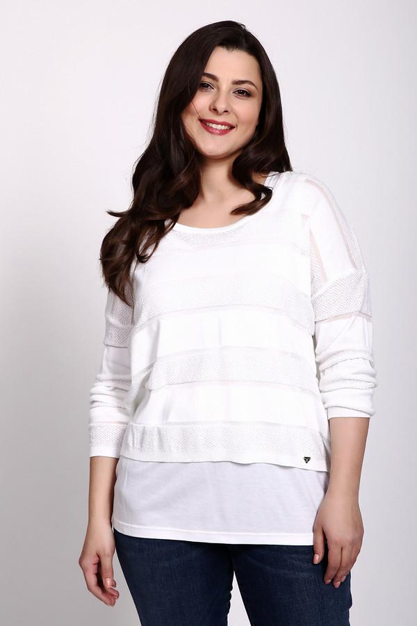 Пуловер LuciaПуловеры<br>Пуловер белого цвета фирмы Lucia. Ткань состоит из 44% полиакрила, 47% хлопка и 9% полиамида. Модель выполнена прямым покроем. Пуловер дополнен круглым воротом, приспущенными рукавами 3/4 длинны. Изделие может дополнить ваш комплект и гармонировать может с различными джинсами.