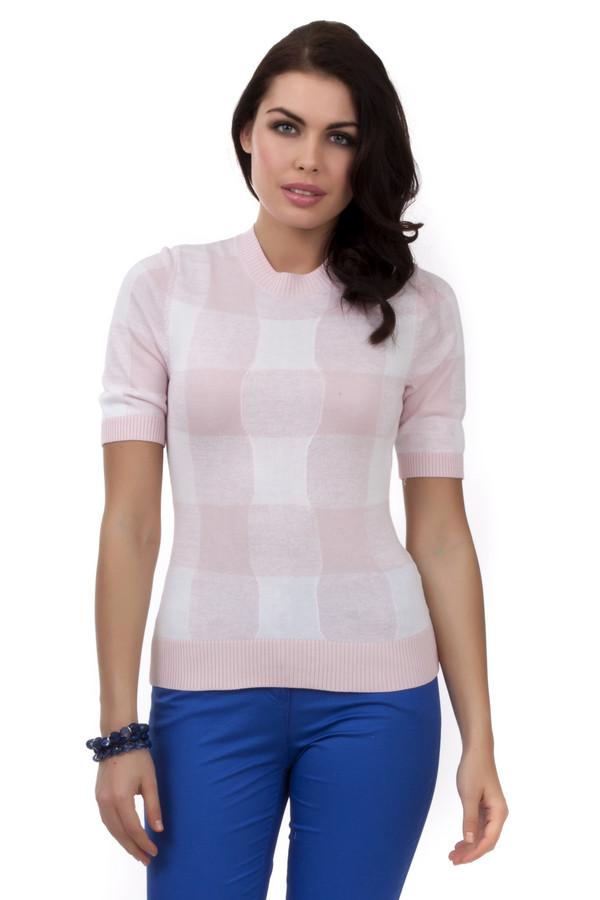 Пуловер PezzoПуловеры<br>Пуловер для женщин от бренда Pezzo. У этого пуловера круглый вырез и рукав длиной до середины плеча. По цвету пуловер светло-розовый в белую клетку. Изделие пошито из материала, который на 60% состоит из вискозы и на 40% из хлопка.<br><br>Размер RU: 42<br>Пол: Женский<br>Возраст: Взрослый<br>Материал: вискоза 60%, хлопок 40%<br>Цвет: Разноцветный