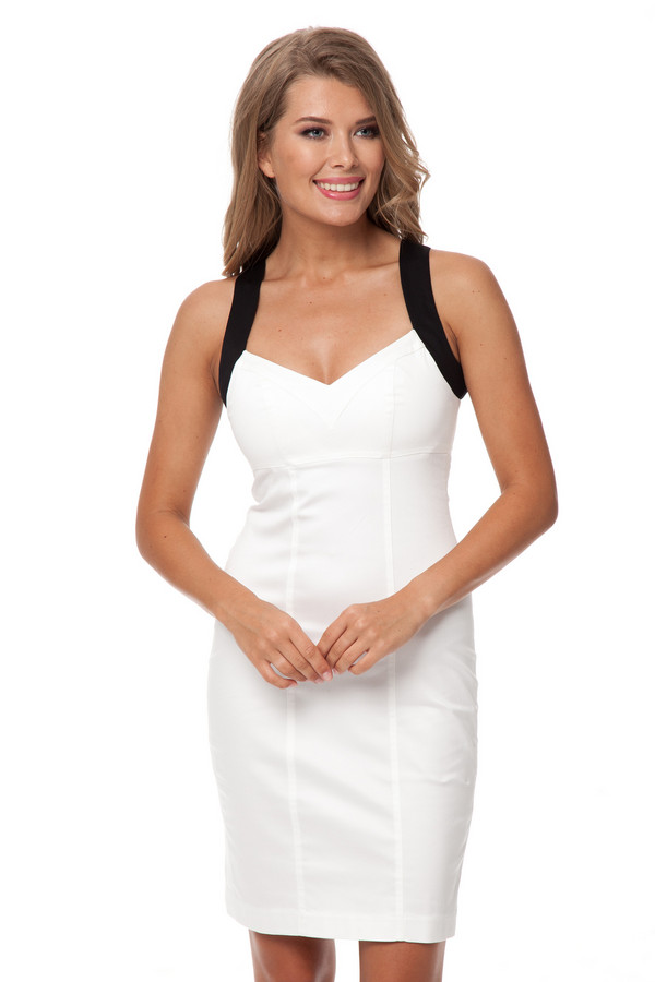 Платье GlossПлатья<br><br><br>Размер RU: 44<br>Пол: Женский<br>Возраст: Взрослый<br>Материал: эластан 3%, хлопок 97%<br>Цвет: Белый