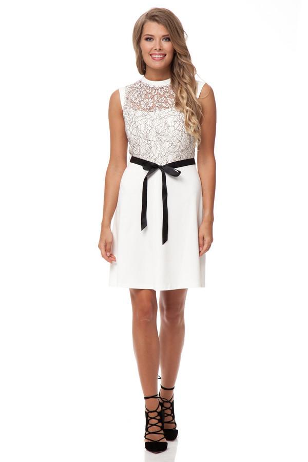 Платье GlossПлатья<br><br><br>Размер RU: 42<br>Пол: Женский<br>Возраст: Взрослый<br>Материал: эластан 5%, вискоза 60%, полиэстер 35%<br>Цвет: Белый