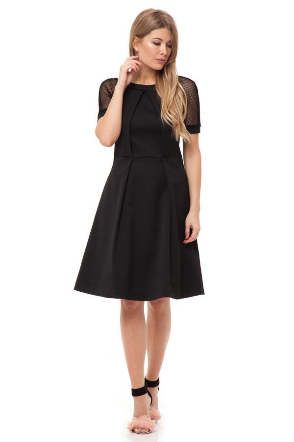 Платье GlossПлатья<br><br><br>Размер RU: 44<br>Пол: Женский<br>Возраст: Взрослый<br>Материал: полиэстер 50%, хлопок 50%<br>Цвет: Чёрный