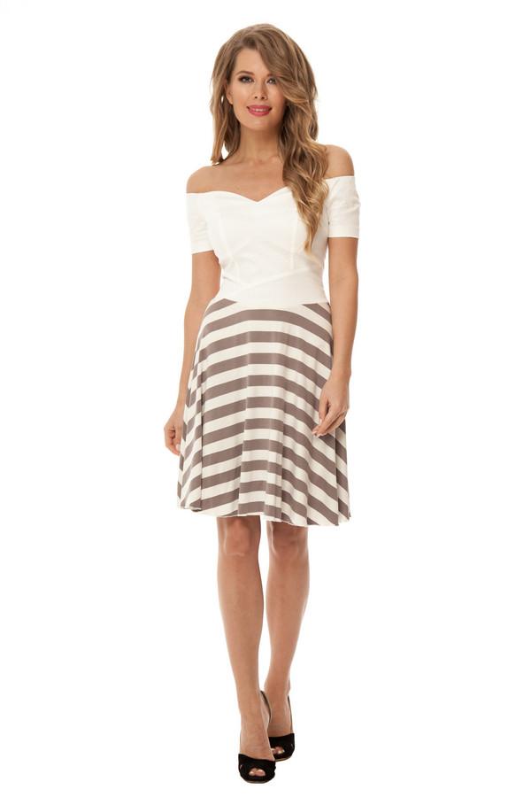 Платье GlossПлатья<br><br><br>Размер RU: 48<br>Пол: Женский<br>Возраст: Взрослый<br>Материал: эластан 5%, полиэстер 48%, вискоза 47%<br>Цвет: Бежевый