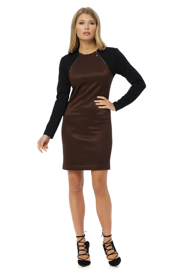 Платье GlossПлатья<br><br><br>Размер RU: 48<br>Пол: Женский<br>Возраст: Взрослый<br>Материал: эластан 7%, вискоза 25%, полиэстер 68%<br>Цвет: Разноцветный
