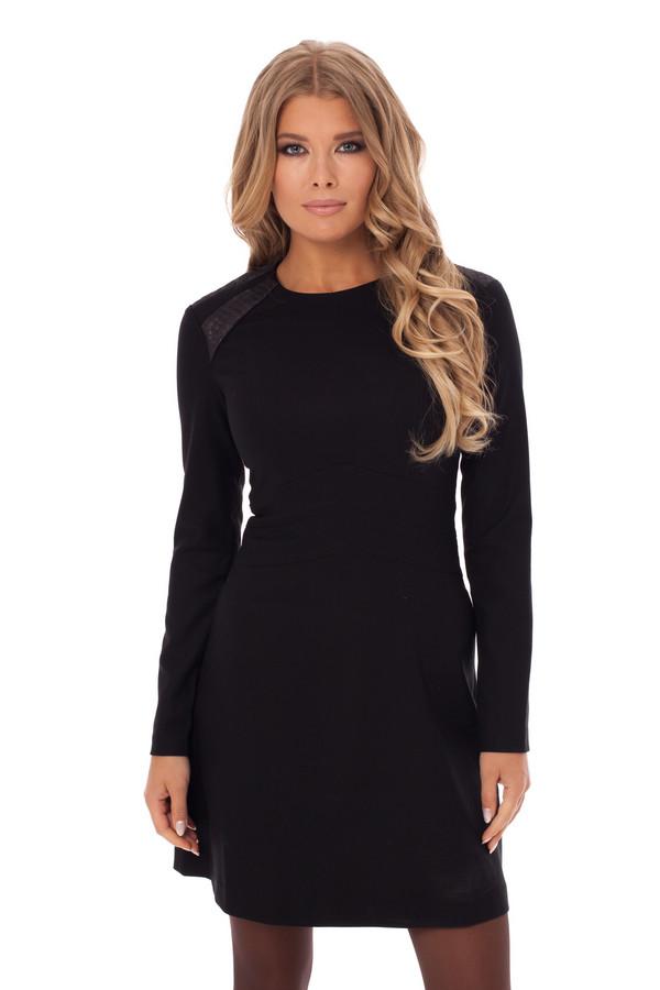 Платье GlossПлатья<br><br><br>Размер RU: 48<br>Пол: Женский<br>Возраст: Взрослый<br>Материал: эластан 5%, полиэстер 43%, вискоза 52%<br>Цвет: Чёрный