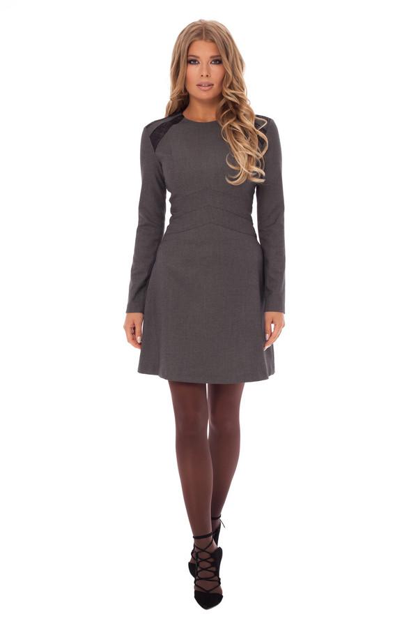 Платье GlossПлатья<br><br><br>Размер RU: 46<br>Пол: Женский<br>Возраст: Взрослый<br>Материал: эластан 5%, полиэстер 43%, вискоза 52%<br>Цвет: Серый