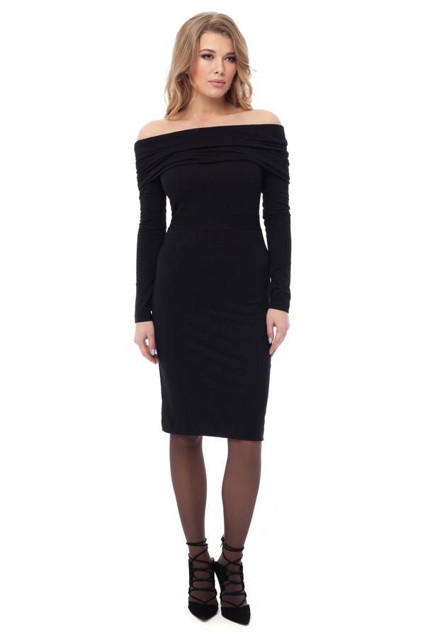 Платье GlossПлатья<br><br><br>Размер RU: 42<br>Пол: Женский<br>Возраст: Взрослый<br>Материал: вискоза 25%, хлопок 35%, полиэстер 40%<br>Цвет: Чёрный