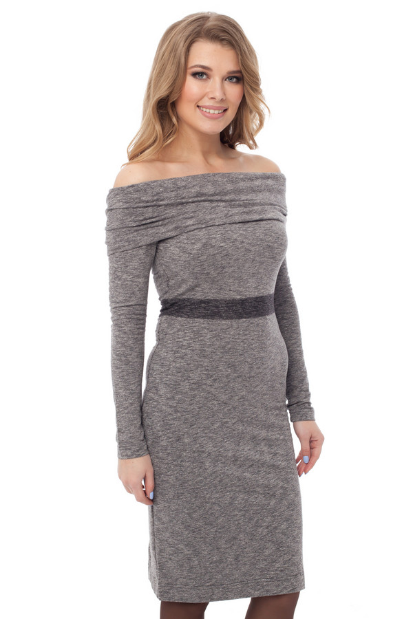 Платье GlossПлатья<br><br><br>Размер RU: 44<br>Пол: Женский<br>Возраст: Взрослый<br>Материал: вискоза 25%, хлопок 35%, полиэстер 40%<br>Цвет: Серый