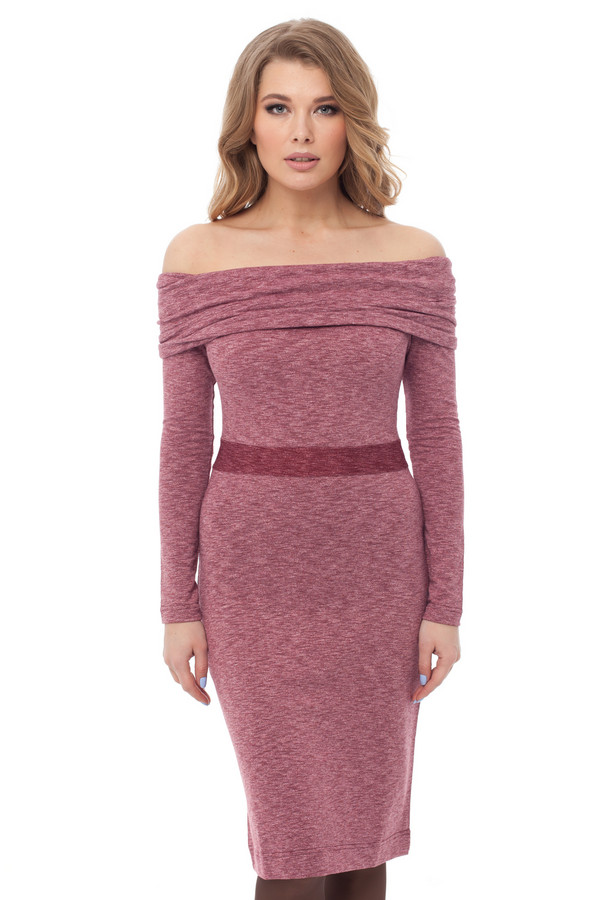 Платье GlossПлатья<br><br><br>Размер RU: 42<br>Пол: Женский<br>Возраст: Взрослый<br>Материал: вискоза 25%, хлопок 35%, полиэстер 40%<br>Цвет: Розовый