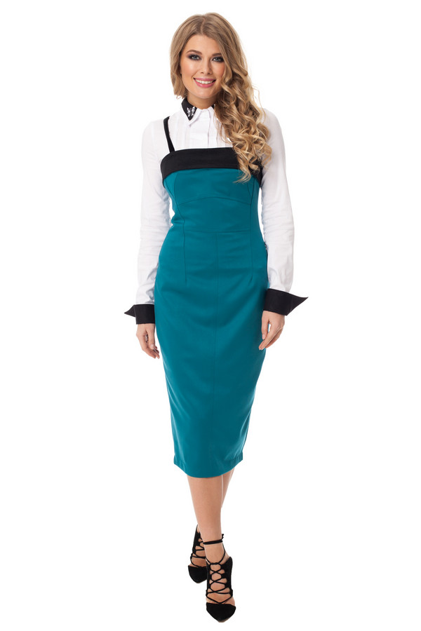 Платье GlossПлатья<br><br><br>Размер RU: 44<br>Пол: Женский<br>Возраст: Взрослый<br>Материал: эластан 5%, полиэстер 43%, вискоза 52%<br>Цвет: Зелёный