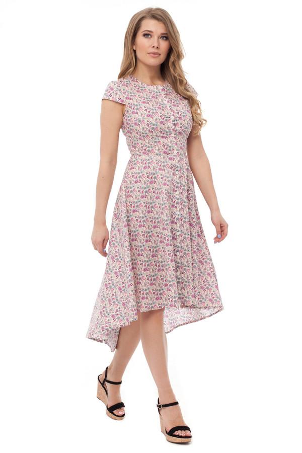 Платье GlossПлатья<br><br><br>Размер RU: 50<br>Пол: Женский<br>Возраст: Взрослый<br>Материал: вискоза 50%, хлопок 50%<br>Цвет: Розовый