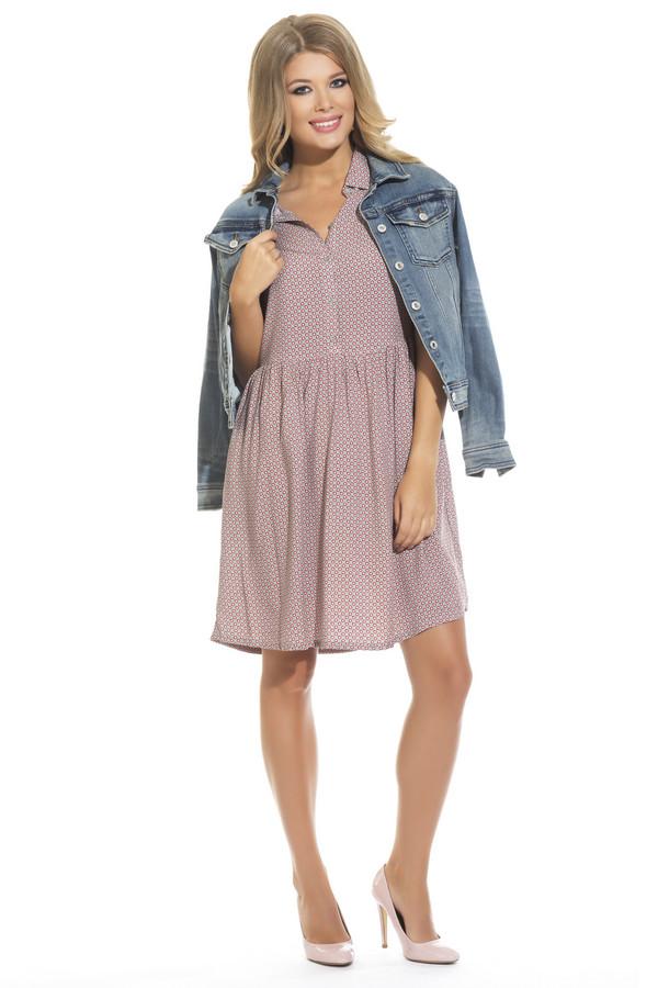 Платье GlossПлатья<br><br><br>Размер RU: 46<br>Пол: Женский<br>Возраст: Взрослый<br>Материал: вискоза 50%, хлопок 50%<br>Цвет: Разноцветный