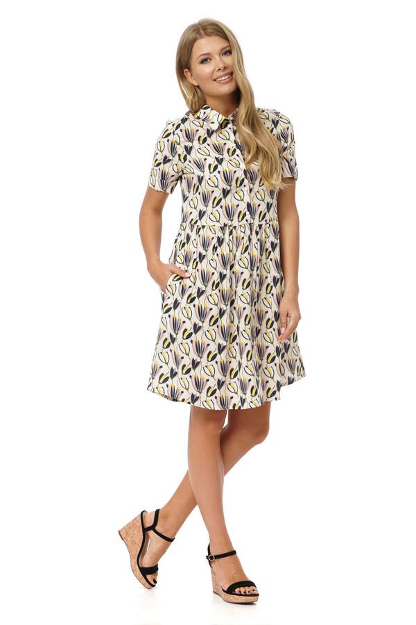 Платье GlossПлатья<br><br><br>Размер RU: 46<br>Пол: Женский<br>Возраст: Взрослый<br>Материал: вискоза 50%, хлопок 50%<br>Цвет: Бежевый