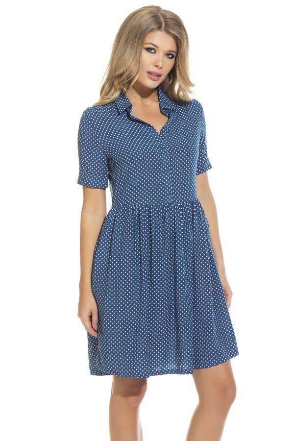 Платье GlossПлатья<br><br><br>Размер RU: 48<br>Пол: Женский<br>Возраст: Взрослый<br>Материал: вискоза 50%, хлопок 50%<br>Цвет: Синий