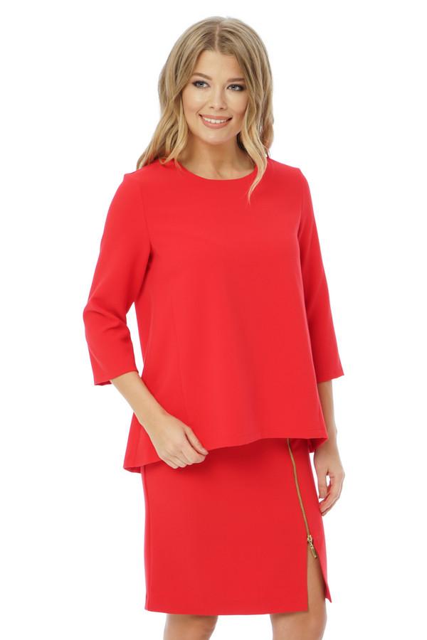 Блузa GlossБлузы<br><br><br>Размер RU: 50<br>Пол: Женский<br>Возраст: Взрослый<br>Материал: вискоза 65%, полиэстер 35%<br>Цвет: Красный