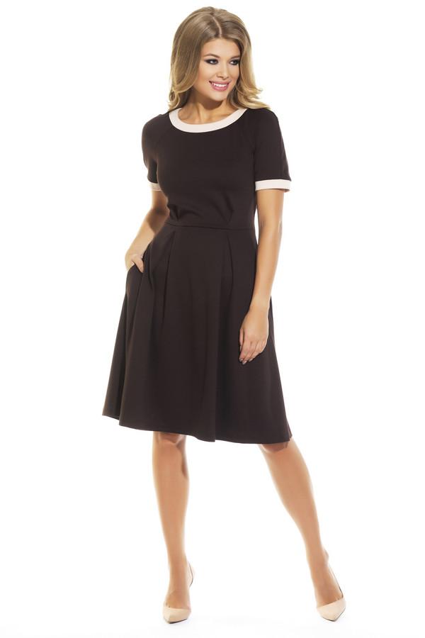 Платье GlossПлатья<br><br><br>Размер RU: 44<br>Пол: Женский<br>Возраст: Взрослый<br>Материал: эластан 5%, вискоза 70%, полиэстер 25%<br>Цвет: Коричневый