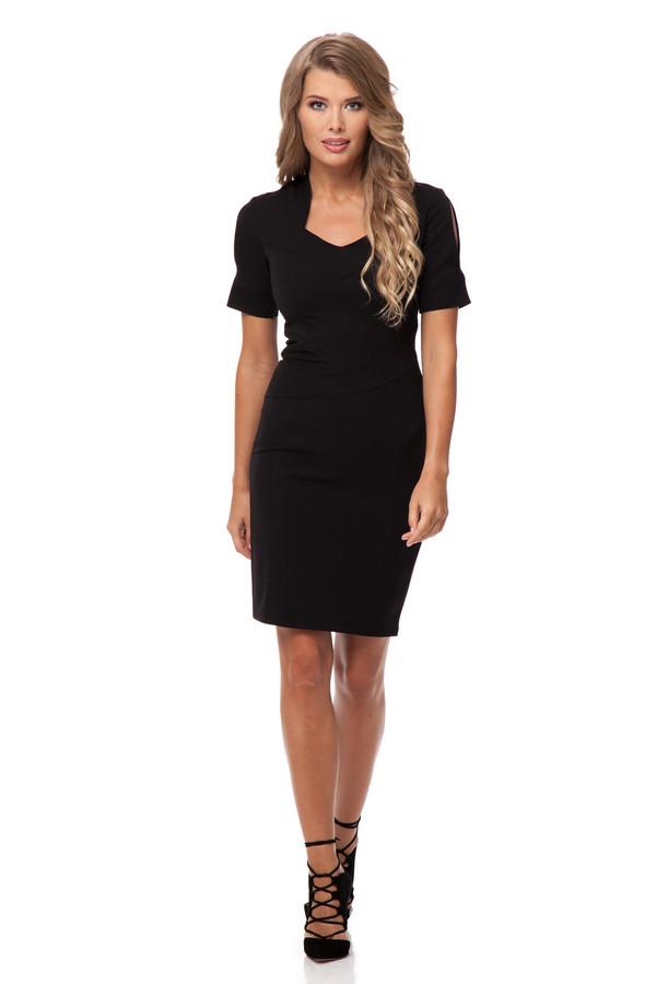 Платье GlossПлатья<br><br><br>Размер RU: 46<br>Пол: Женский<br>Возраст: Взрослый<br>Материал: эластан 5%, полиэстер 43%, вискоза 52%<br>Цвет: Чёрный