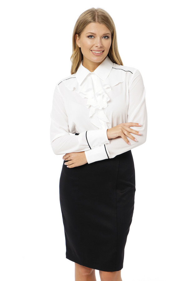 Платье GlossПлатья<br><br><br>Размер RU: 48<br>Пол: Женский<br>Возраст: Взрослый<br>Материал: эластан 5%, полиэстер 43%, вискоза 52%<br>Цвет: Белый