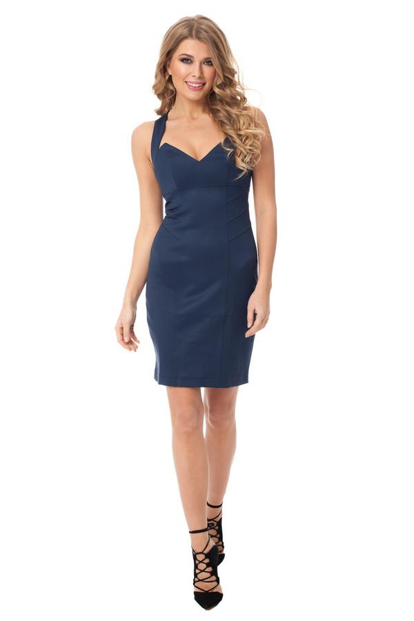 Платье GlossПлатья<br><br><br>Размер RU: 46<br>Пол: Женский<br>Возраст: Взрослый<br>Материал: эластан 5%, полиэстер 43%, вискоза 52%<br>Цвет: Синий