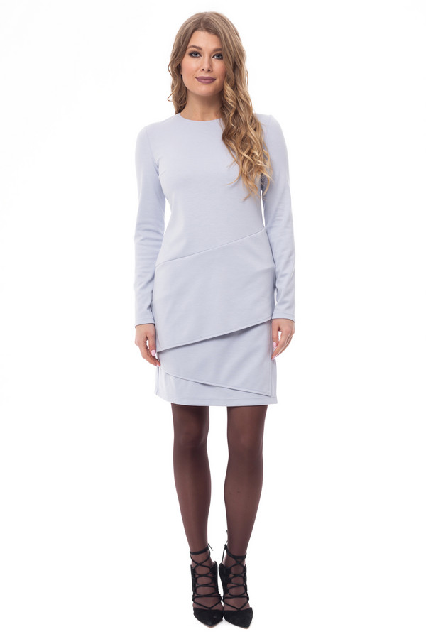 Платье GlossПлатья<br><br><br>Размер RU: 44<br>Пол: Женский<br>Возраст: Взрослый<br>Материал: эластан 5%, полиэстер 60%, вискоза 35%<br>Цвет: Голубой
