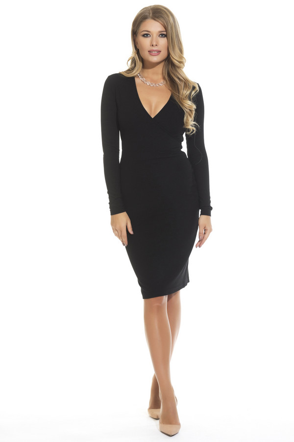 Платье GlossПлатья<br><br><br>Размер RU: 46<br>Пол: Женский<br>Возраст: Взрослый<br>Материал: эластан 5%, вискоза 95%<br>Цвет: Чёрный