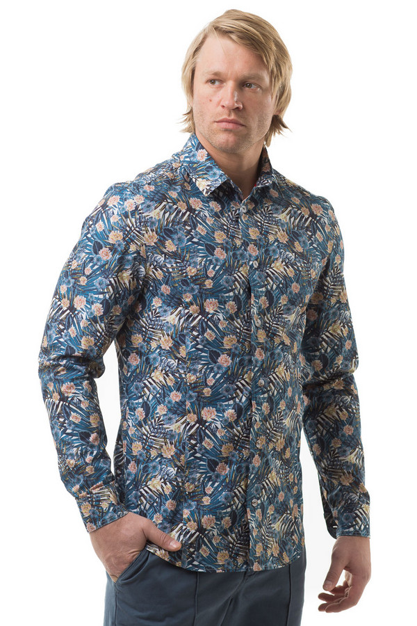 Рубашка с длинным рукавом RPSДлинный рукав<br><br><br>Размер RU: 48<br>Пол: Мужской<br>Возраст: Взрослый<br>Материал: хлопок 100%<br>Цвет: Разноцветный
