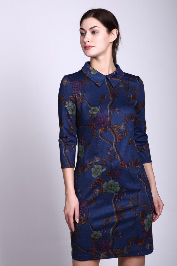 Платье RemixПлатья<br><br><br>Размер RU: 46<br>Пол: Женский<br>Возраст: Взрослый<br>Материал: эластан 5%, полиэстер 60%, вискоза 35%<br>Цвет: Синий