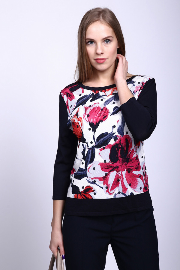 Пуловер Gerry WeberПуловеры<br><br><br>Размер RU: 54<br>Пол: Женский<br>Возраст: Взрослый<br>Материал: полиамид 25%, вискоза 75%<br>Цвет: Разноцветный
