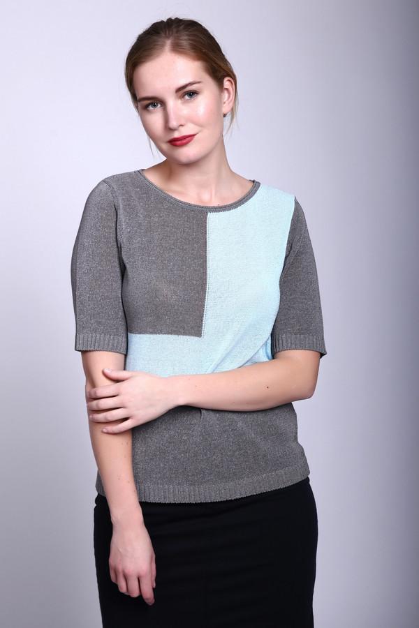 Пуловер Rabe collectionПуловеры<br><br><br>Размер RU: 46<br>Пол: Женский<br>Возраст: Взрослый<br>Материал: эластан 5%, полиэстер 45%, полиакрил 11%, хлопок 39%<br>Цвет: Серый