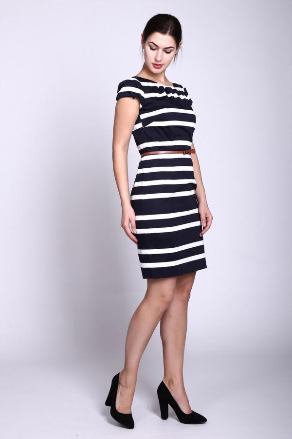 Платье CommaПлатья<br><br><br>Размер RU: 42<br>Пол: Женский<br>Возраст: Взрослый<br>Материал: эластан 3%, хлопок 97%<br>Цвет: Разноцветный