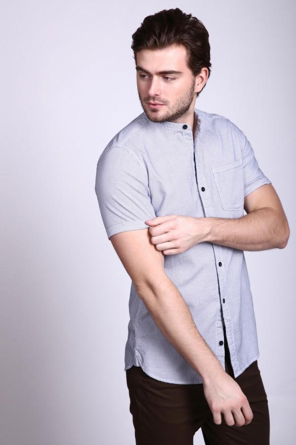 Купить Мужские рубашки с коротким рукавом s.Oliver, Индонезия, Серый, хлопок 100%