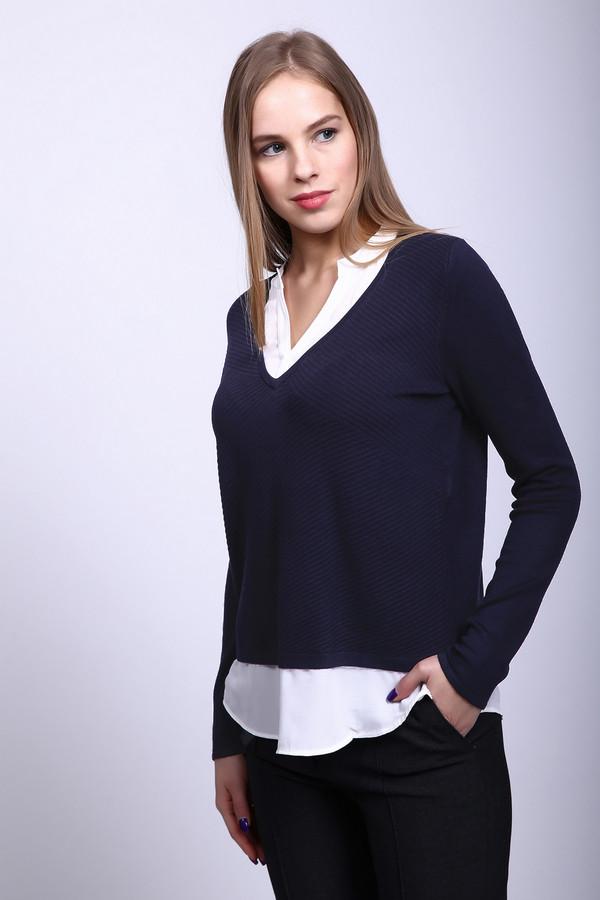 Пуловер CommaПуловеры<br><br><br>Размер RU: 44<br>Пол: Женский<br>Возраст: Взрослый<br>Материал: эластан 2%, полиамид 17%, вискоза 81%<br>Цвет: Синий
