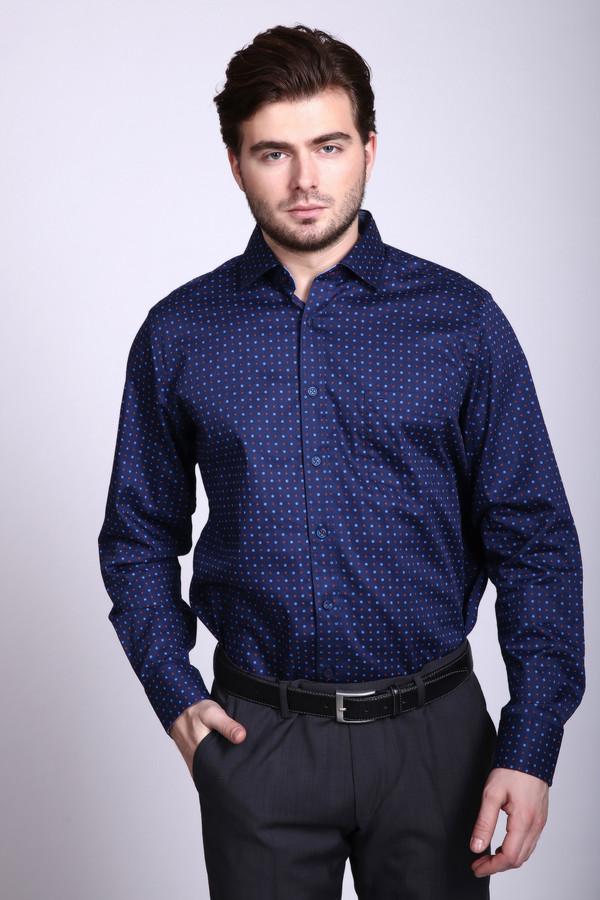 Рубашка с длинным рукавом Casa ModaДлинный рукав<br><br><br>Размер RU: 45-46<br>Пол: Мужской<br>Возраст: Взрослый<br>Материал: хлопок 100%<br>Цвет: Синий