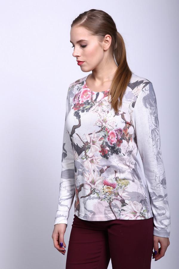 Блузa ErfoБлузы<br>Блуза фирмы Erfo серого цвета. Ткань состоит из 35% вискозы и 65% полиэстера. Модель дополнена округлым воротом, длинным, втачным рукавом. Блуза выполнена прямым покроем. На блузе выполнен растительный принт. Ткань отлично держит форму, не требует дополнительного ухода. Эта блуза прекрасно будет гармонировать с однотонными брюками.<br><br>Размер RU: 48<br>Пол: Женский<br>Возраст: Взрослый<br>Материал: полиэстер 65%, вискоза 35%<br>Цвет: Разноцветный