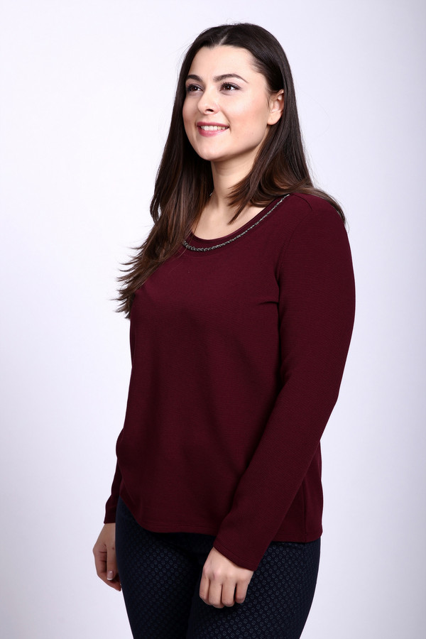 Пуловер Gerry WeberПуловеры<br><br><br>Размер RU: 52<br>Пол: Женский<br>Возраст: Взрослый<br>Материал: эластан 2%, вискоза 60%, полиэстер 38%<br>Цвет: Бордовый