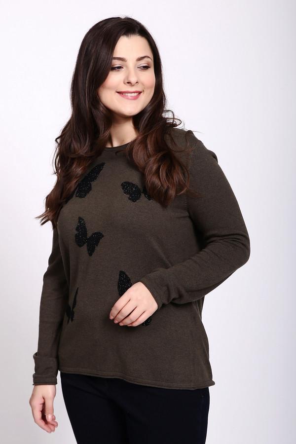 Пуловер Gerry WeberПуловеры<br>Пуловер зеленого цвета фирмы Gerry Weber. Ткань состоит из 36% вискозы, 1% полиэстера, 29% хлопка, 19% полиамида, 10% шерсти и 5% кашемира. Модель выполнена прямым покроем. Пуловер дополнен округлым воротом, длинными, втачными рукавами. Передняя часть пуловера декорирована вышивкой черного цвета - форма бабочки. Такая модель прекрасно гармонирует с различными брюками.