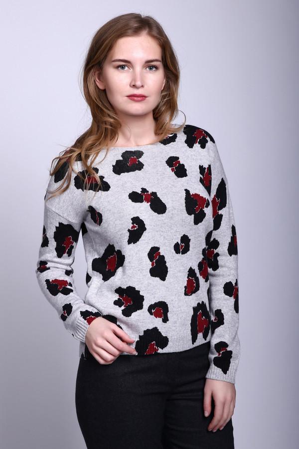 Пуловер Gerry WeberПуловеры<br><br><br>Размер RU: 52<br>Пол: Женский<br>Возраст: Взрослый<br>Материал: полиамид 25%, вискоза 45%, хлопок 27%, кашемир 3%<br>Цвет: Серый