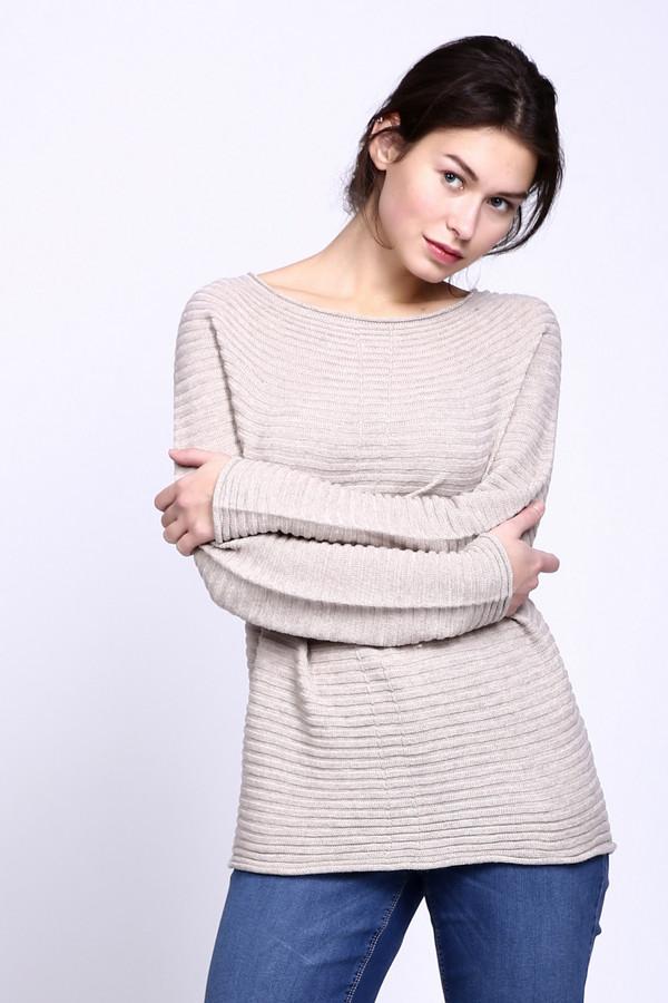 Пуловер CommaПуловеры<br><br><br>Размер RU: 42<br>Пол: Женский<br>Возраст: Взрослый<br>Материал: эластан 2%, хлопок 19%, шерсть 10%, вискоза 22%, полиакрил 47%<br>Цвет: Бежевый
