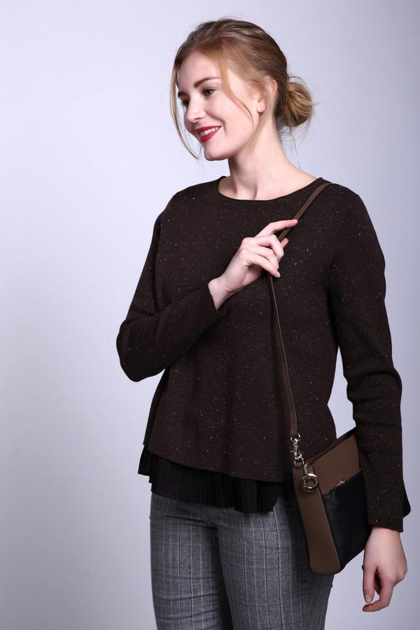 Пуловер BaslerПуловеры<br><br><br>Размер RU: 52<br>Пол: Женский<br>Возраст: Взрослый<br>Материал: хлопок 59%, полиэстер 41%<br>Цвет: Коричневый