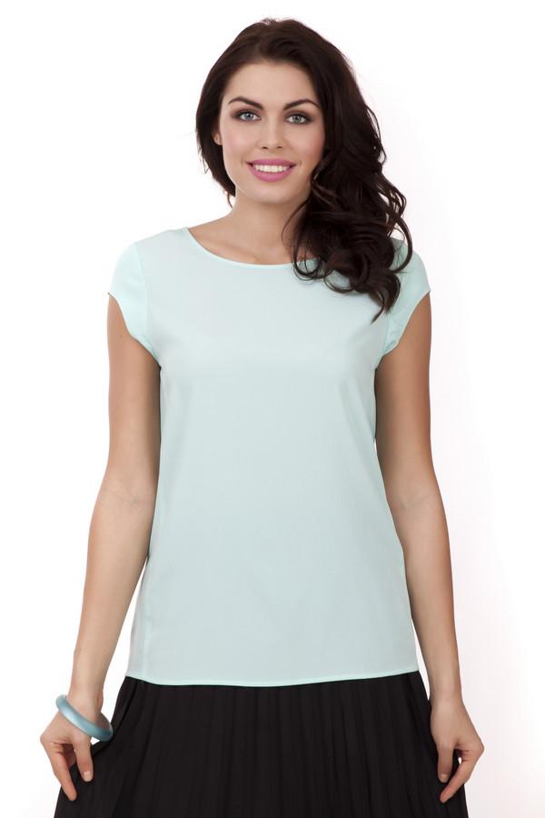 Блузa PezzoБлузы<br>Однотонная блуза Pezzo мятного цвета свободного кроя. Изделие дополнено: круглым вырезом, короткими рукавами и застежкой-молния на спинке. Блуза выполнена из легкого полиэстерового материала.<br><br>Размер RU: 52<br>Пол: Женский<br>Возраст: Взрослый<br>Материал: полиэстер 100%<br>Цвет: Голубой